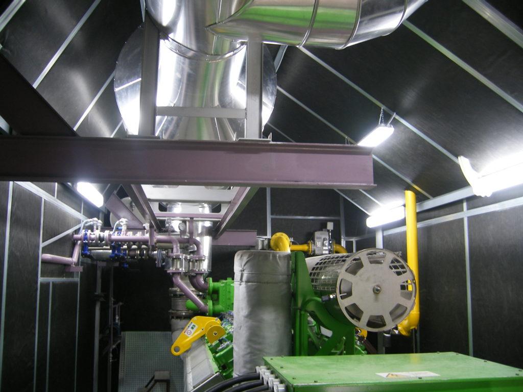 Aislamiento acústico de sala de máquinas
